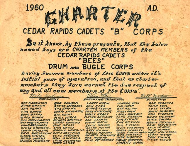 cedar rapids cadets, iowa, b corps charter