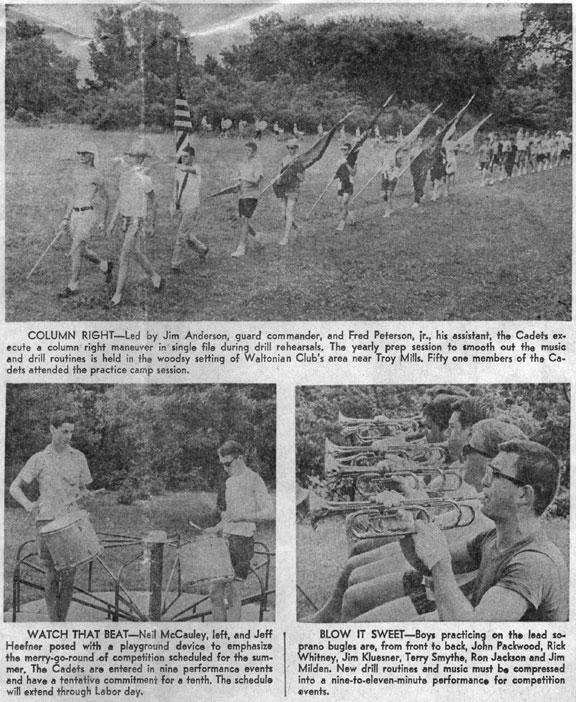 cedar rapids cadets, drum corps, cedar rapids gazette