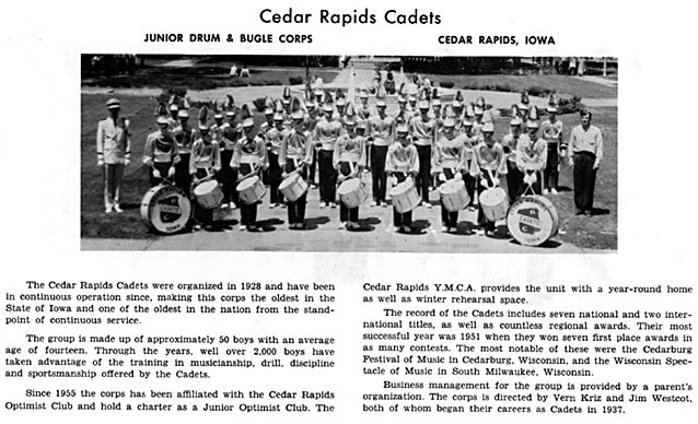 soldiers on review, drum and bugle corps contest, waterloo iowa